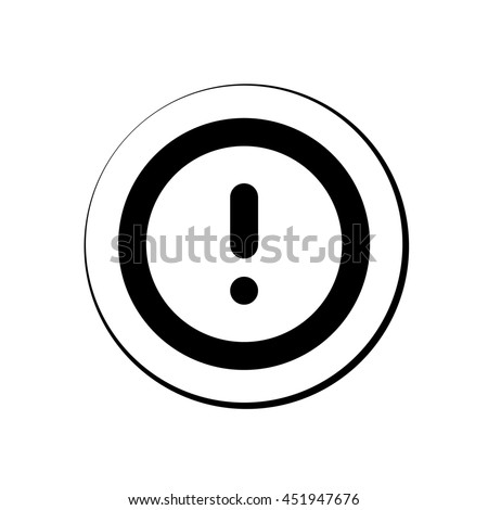 An Icon Illustration Isolated on a Background - Round Explanation Mark