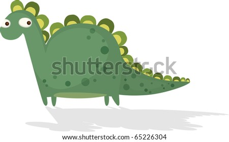 An illustration of a cute dinosaur.