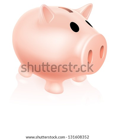 An illustration of a cute pink piggy bank icon