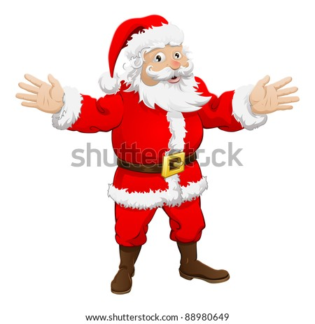 An illustration of a happy Christmas Santa Claus