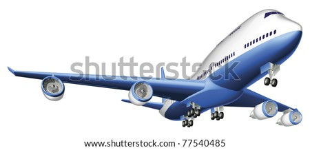An Illustration of a large passenger plane - stock vector