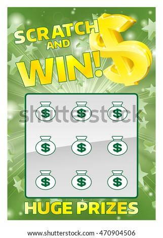Scratch off stock images royalty free images vectors shutterstock an illustration of a lottery scratchcard instant scratch and win sciox Gallery