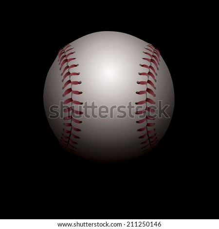 An illustration of a realistic baseball set in shadows. Room for copy. Vector EPS 10. EPS contains transparencies and gradient mesh.