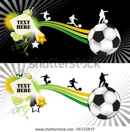 An illustration of a soccer abstract brochure - stock vector