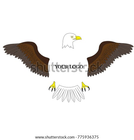 Illustration Eagle Symbol American Freedom Middle Stock Vector