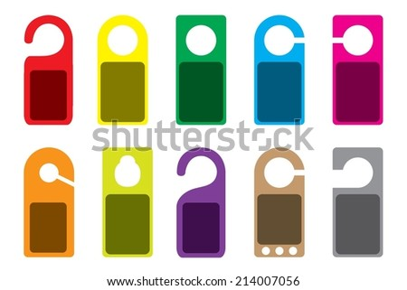 An Illustration of blank colourful Do Not Disturb Signs - stock vector