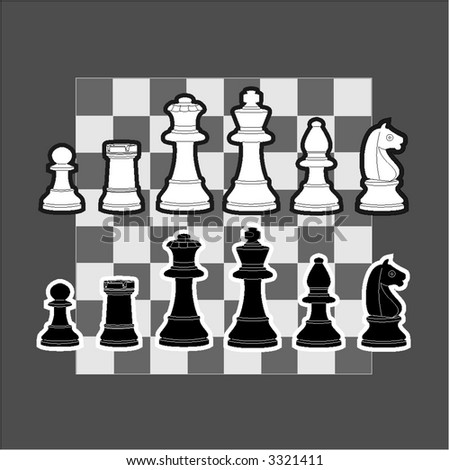 An illustration of chess piece - stock vector