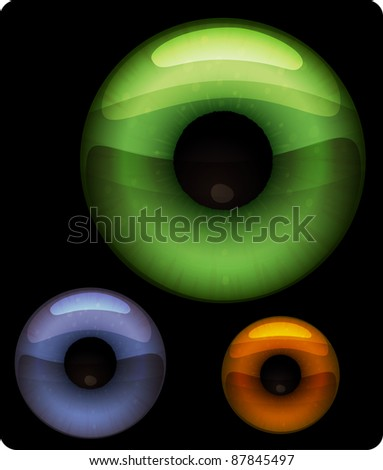An illustration of pupils of the eye in eps 10. Can be scaled without quality loss. - stock vector