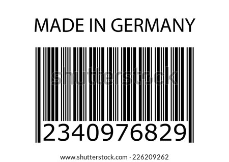 An Illustration of stamp marked Made in Germany - stock vector