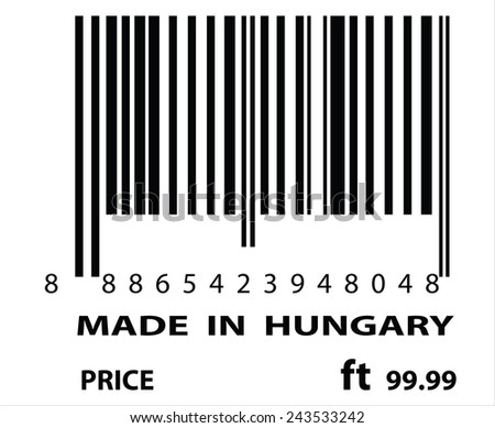 An Illustration of stamp marked Made in Hungrary