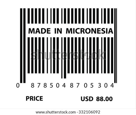 An Illustration of stamp marked Made in Micronesia