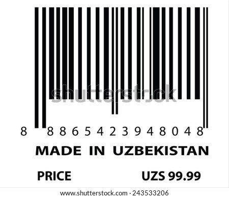 An Illustration of stamp marked Made in Uzbekistan