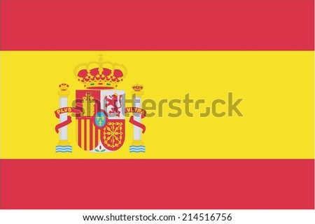 An Illustration of the flag of Spain - stock vector