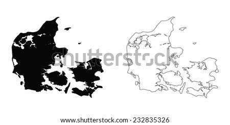 An Illustration on a White background of Denmark - stock vector