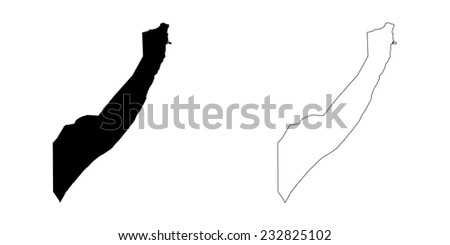 An Illustration on a White background of Somalia - stock vector