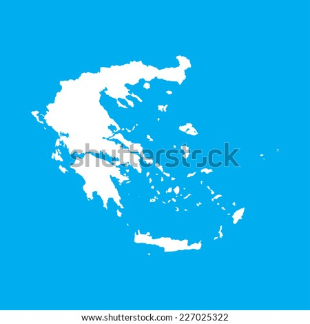 An Illustration on an Blue background of Greece - stock vector