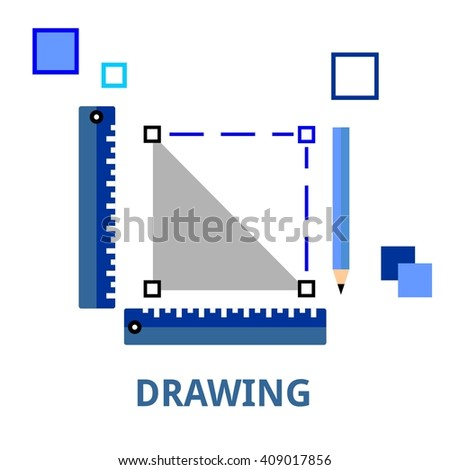 An illustration showing a drawing concept - stock vector
