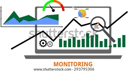 An illustration showing a monitoring concept - stock vector