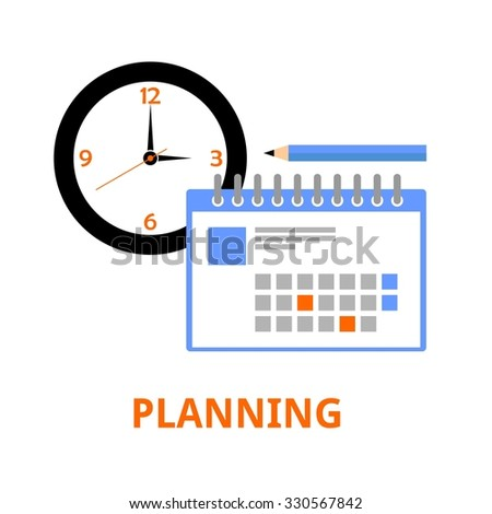 An illustration showing a planning concept - stock vector