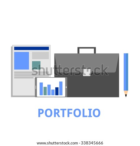 An illustration showing a portfolio concept - stock vector