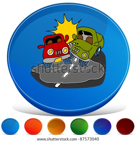 An image of a black ice gemstone button set. - stock vector
