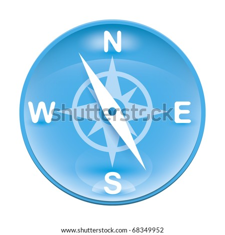 An image of a blue wind rose icon