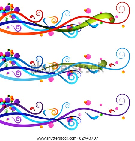 An image of a colorful festive celebration banner set. - stock vector