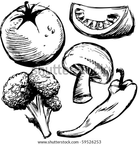 Drawing With Mushrooms Stock Images Royalty-Free Images U0026 Vectors | Shutterstock