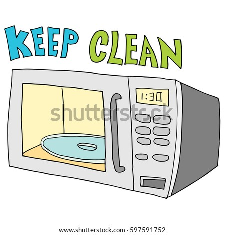 microwave clipart. an image of a keep microwave clean. clipart