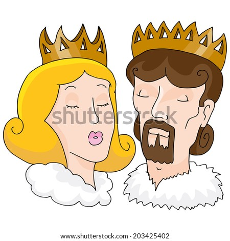 An image of a king and queen. - stock vector