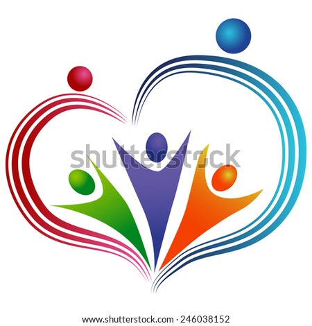 An image of a loving people icon. - stock vector
