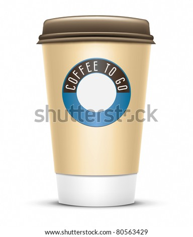 An image of a nice coffee to go - stock vector