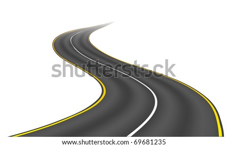 An image of a nice road isolated on white - stock vector