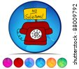 An image of a no solicitors telephone mosaic crystal button set. - stock photo