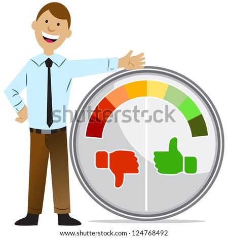 An image of a rating meter man. - stock vector