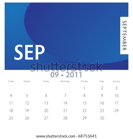 An image of a 2011 September calendar.