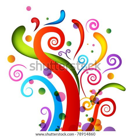An image of a set of celebration confetti elements. - stock vector