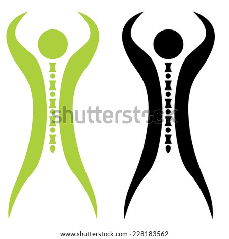 An image of a strong spine man. - stock vector