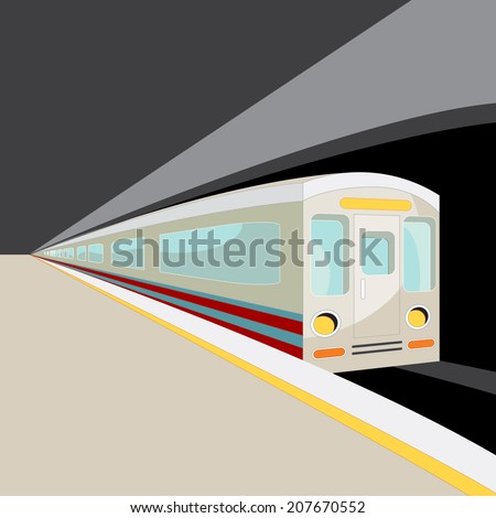 An image of a subway car. - stock vector