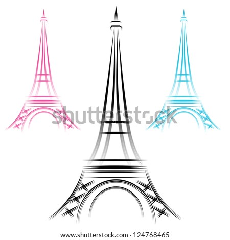 An image of an abstract eiffel tower.