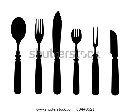 An image of an old vintage cutlery - stock vector