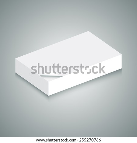 An image of of 3d stack of blank paper. - stock vector