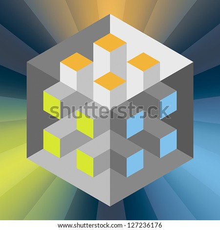 An impossible object. EPS 8, CMYK - stock vector