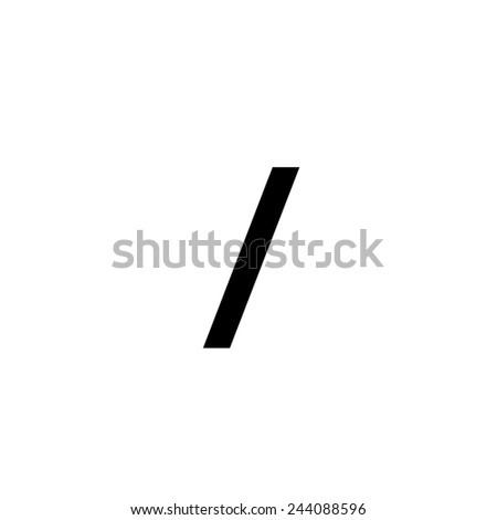 An Individual Alphabet Character of a Custom Font - Forward Slash - stock vector