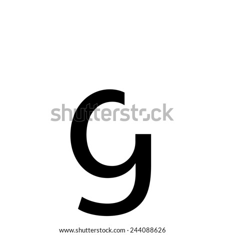 An Individual Alphabet Character of a Custom Font - Lowercase G - stock vector