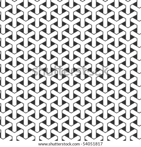 An intricate, black and white woven pattern.