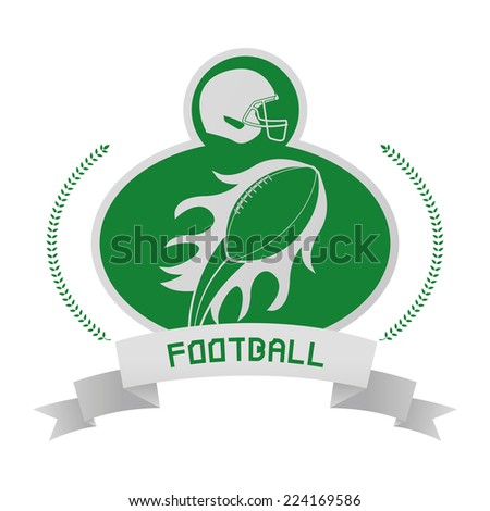 an isolated football emblem on a white background - stock vector