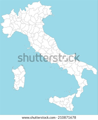 Large Administrative Map Oif Italy All Stock Vector 2018 210871678
