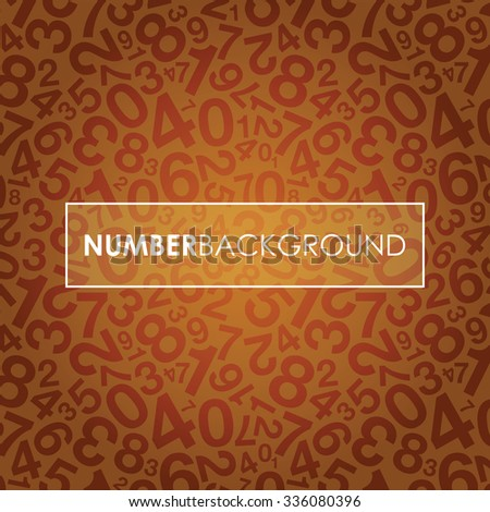 an orange abstract number background - stock vector