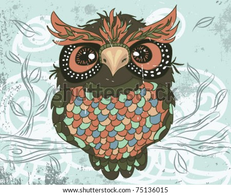an owl. - stock vector